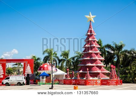 SANTO DOMINGO, DOMINICAN REPUBLIC - CIRCA JAN 2016: Plaza del Alcazar de Colon in Santo Domingo, Dominican Republic