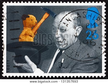 GREAT BRITAIN - CIRCA 1996: a stamp printed in Great Britain shows Sooty is a Glove Puppet created by Harry Corbett British Television Programs for Children 50th Anniversary circa 1996