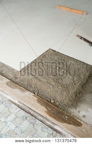 Home Improvement, With Cement Mortar For Tiles Work