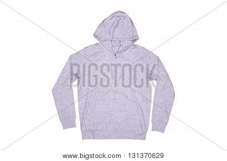 Isolated hooded sweater on the white background