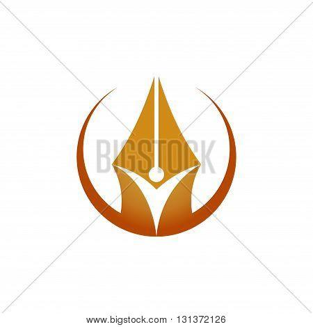 Spirit of Pen Author Writer Editor Logo