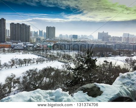 Winter in Changchun is one the coldest in China