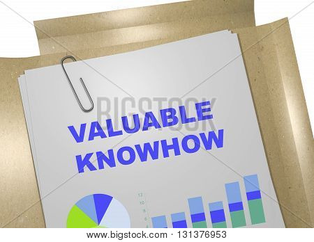 Valuable Knowhow Business Concept