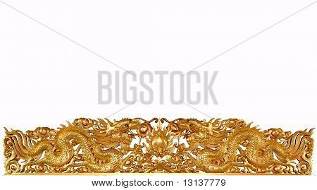 Beautiyful twin golden dragon