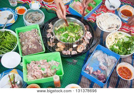 In Thai family time : Tsukiyaki homemade