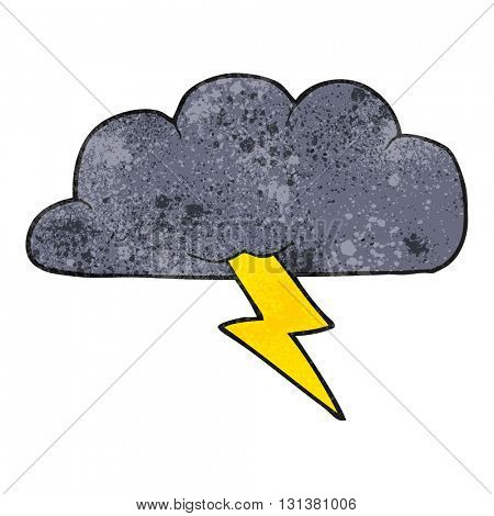 freehand textured cartoon thundercloud