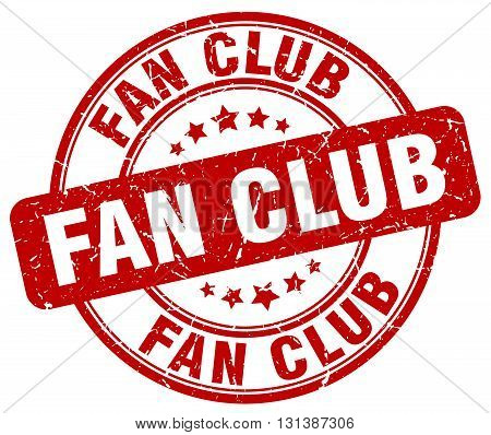 fan club red grunge round vintage rubber stamp.fan club stamp.fan club round stamp.fan club grunge stamp.fan club.fan club vintage stamp.