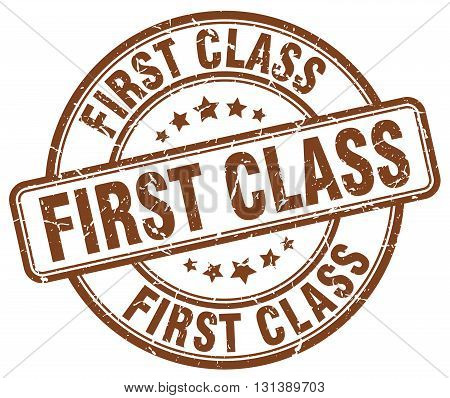 first class brown grunge round vintage rubber stamp.first class stamp.first class round stamp.first class grunge stamp.first class.first class vintage stamp.