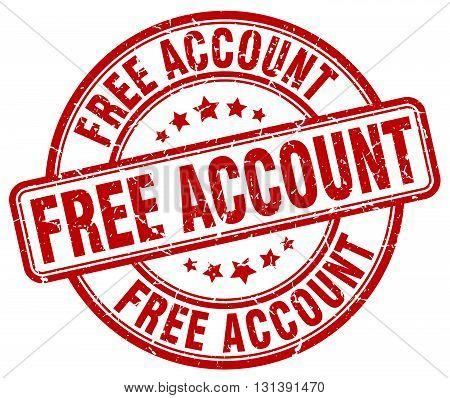 free account red grunge round vintage rubber stamp.free account stamp.free account round stamp.free account grunge stamp.free account.free account vintage stamp.