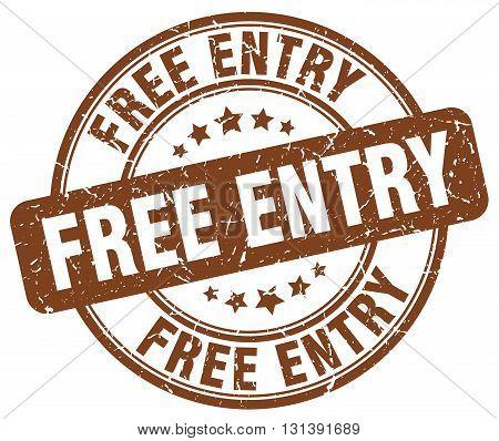 free entry brown grunge round vintage rubber stamp.free entry stamp.free entry round stamp.free entry grunge stamp.free entry.free entry vintage stamp.