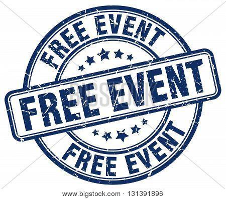 free event blue grunge round vintage rubber stamp.free event stamp.free event round stamp.free event grunge stamp.free event.free event vintage stamp.