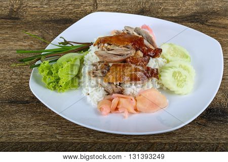 Roasred Duck With Rice