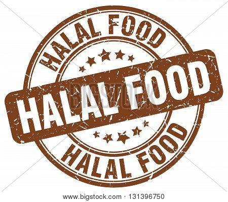 halal food brown grunge round vintage rubber stamp.halal food stamp.halal food round stamp.halal food grunge stamp.halal food.halal food vintage stamp.