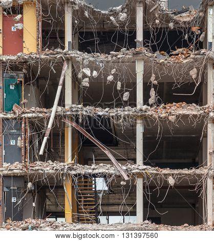 Demolition Of A Multi Floor Building