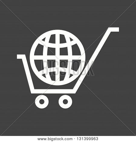 Ecommerce, shopping, online icon vector image.Can also be used for networking. Suitable for mobile apps, web apps and print media.