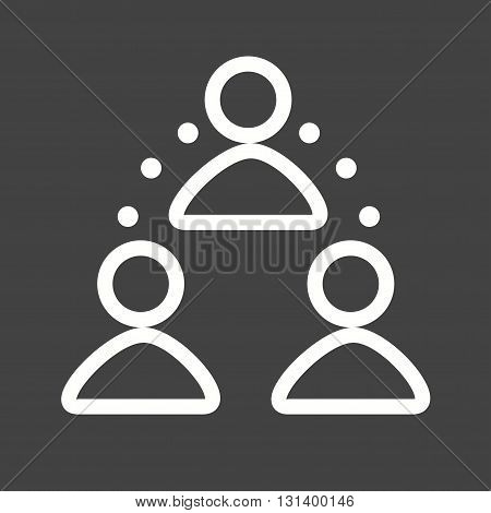 People, business, connection icon vector image.Can also be used for networking. Suitable for mobile apps, web apps and print media.