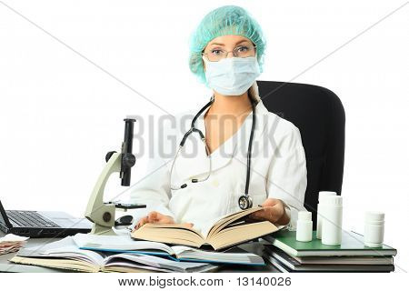 Medicine, healthcare, medical staff, science equipment.