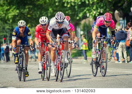 Stage 17 of the Giro d'Italia 196km from Molveno to Cassano d'Adda Sprint in Brescia Italy 25th May 2016