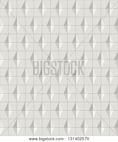 Modern stylish monochrome geometric tiles texture with structure of repeating cubes and rhombuses - vector seamless pattern
