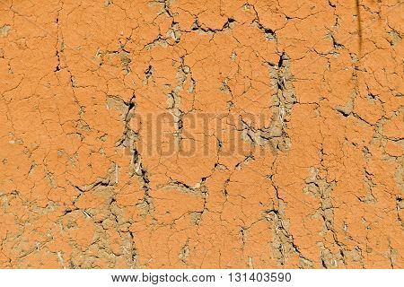 The texture of clay wall for background.