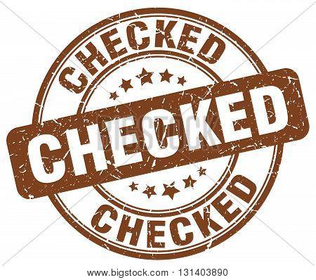 checked brown grunge round vintage rubber stamp.checked stamp.checked round stamp.checked grunge stamp.checked.checked vintage stamp.