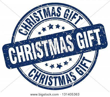 christmas gift blue grunge round vintage rubber stamp.christmas gift stamp.christmas gift round stamp.christmas gift grunge stamp.christmas gift.christmas gift vintage stamp.