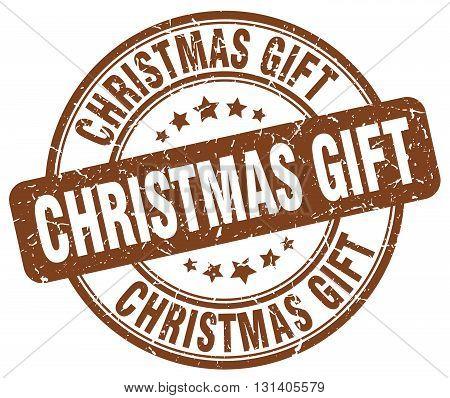 christmas gift brown grunge round vintage rubber stamp.christmas gift stamp.christmas gift round stamp.christmas gift grunge stamp.christmas gift.christmas gift vintage stamp.