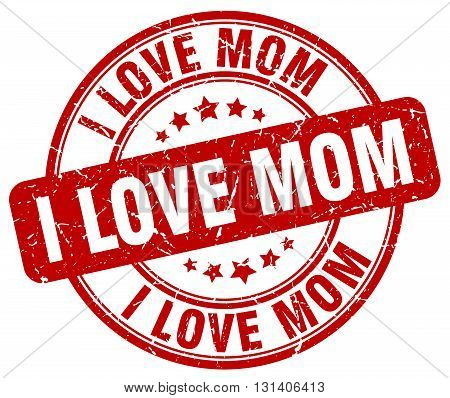 i love mom red grunge round vintage rubber stamp.i love mom stamp.i love mom round stamp.i love mom grunge stamp.i love mom.i love mom vintage stamp.