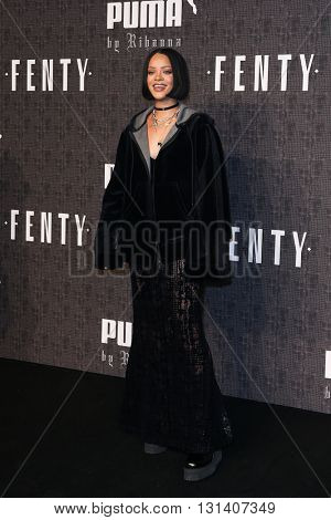 NEW YORK-FEB 12: Recording artist Rihanna attends the FENTY PUMA by Rihanna AW16 Collection during Fall 2016 New York Fashion Week at 23 Wall Street on February 12, 2016 in New York City.