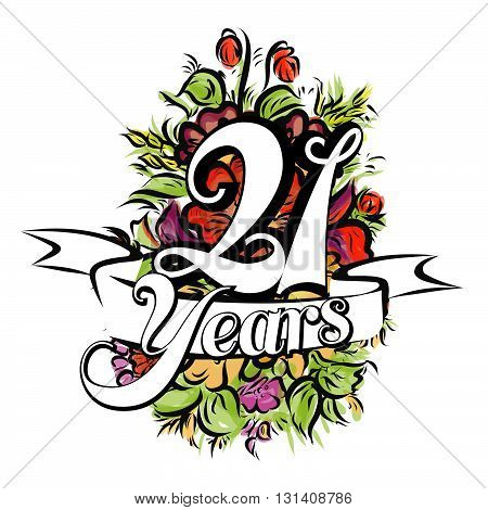 21 Years Greeting Card Design