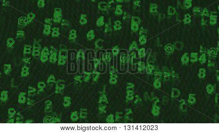 Digital Coding Calculations On A Low Resolution Retro Monochrome Vga Monitor