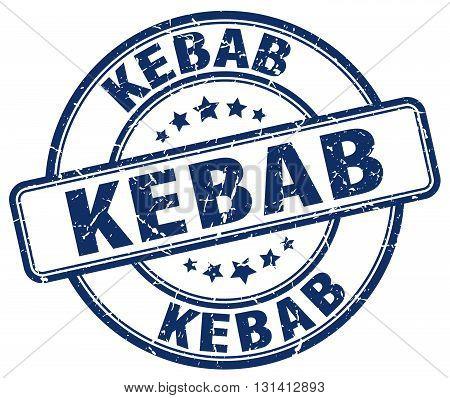 kebab blue grunge round vintage rubber stamp.kebab stamp.kebab round stamp.kebab grunge stamp.kebab.kebab vintage stamp.