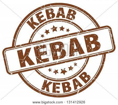 kebab brown grunge round vintage rubber stamp.kebab stamp.kebab round stamp.kebab grunge stamp.kebab.kebab vintage stamp.