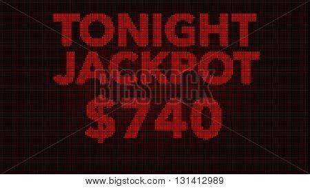 Tonight Jackpot Retro Gambling Machine Display