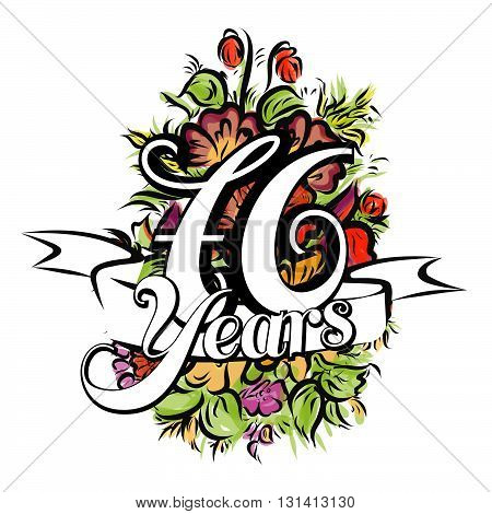 76 Years Greeting Card Design