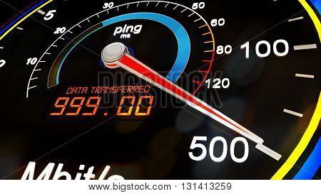 Internet Bandwidth Download Upload Speed Meter