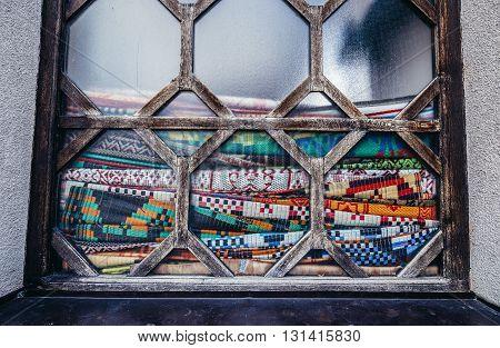 praying carpets in Gazi Husrev-beg Mosque in Sarajevo Bosnia and Herzegovina