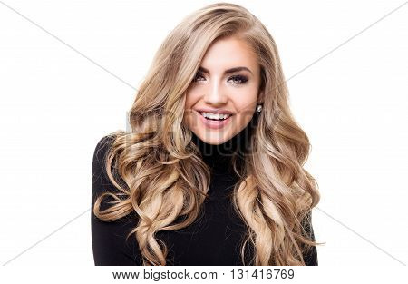 Portrait Of Beautiful Blonde Woman.