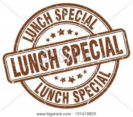 lunch special brown grunge round vintage rubber stamp.lunch special stamp.lunch special round stamp.lunch special grunge stamp.lunch special.lunch special vintage stamp.