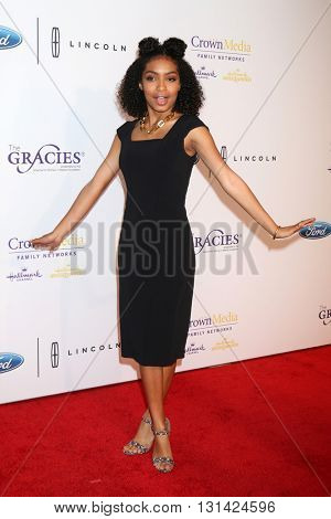 LOS ANGELES - MAY 24:  Yara Shahidi at the 41st Annual Gracie Awards Gala at Beverly Wilshire Hotel on May 24, 2016 in Beverly Hills, CA