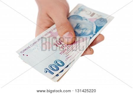Turkish Lira Banknotes.money Background