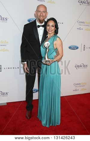 LOS ANGELES - MAY 24:  Chris Brown, Joan Bishop at the 41st Annual Gracie Awards Gala at Beverly Wilshire Hotel on May 24, 2016 in Beverly Hills, CA