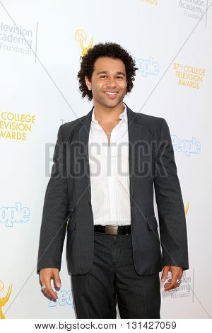 LOS ANGELES - MAY 25:  Corbin Bleu at the 37th College Television Awards at Skirball Cultural Center on May 25, 2016 in Los Angeles, CA