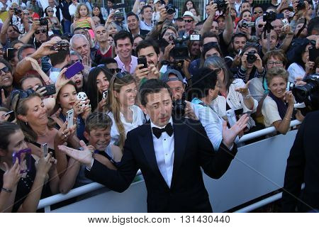 CANNES, FRANCE - MAY 21: Gad Elmaleh attends the 'Elle' Premiere during the 69th annual Cannes Film Festival at the Palais des Festivals on May 21, 2016 in Cannes, France.