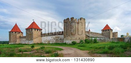 Old Fortress On The River Dniester In Town Bender, Transnistria.