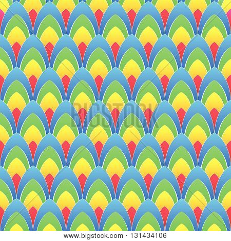abstract background with concentric rainbow colourful ellipses with white contours, vector
