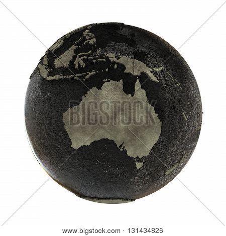 Australia On Earth Of Oil