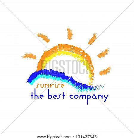 Sunrise company logo company logo should be the sun rising sea