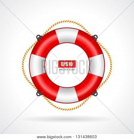 Life ring vector icon isolated on white background