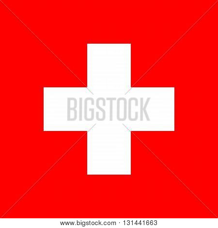 Flag of Switzerland. Switzerland flag vector illustration.